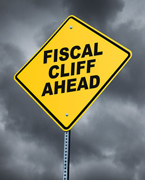 Photo - Sign About Fiscal Cliff